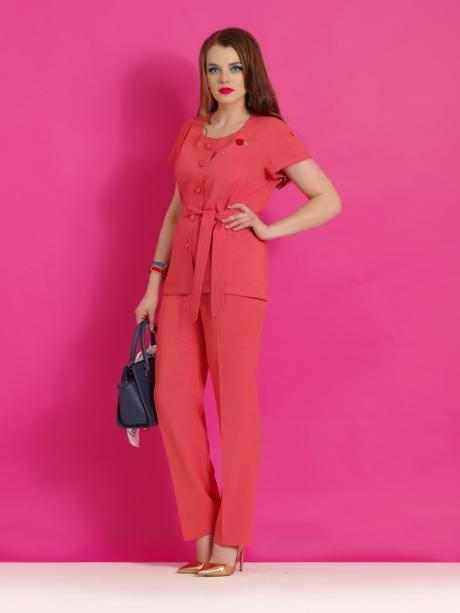 Брючные костюмы /комплекты Lissana 2858 коралл