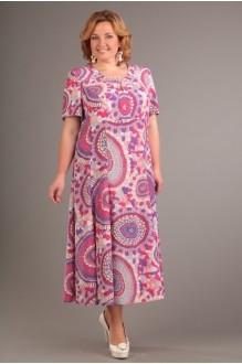 Повседневные платья Джерза 1381 сиреневые тона фото 1