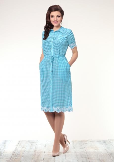 Летние платья Галеан-стиль 496 голубой