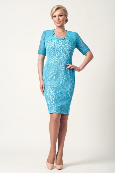 Вечерние платья Gold Style 1465 голубой