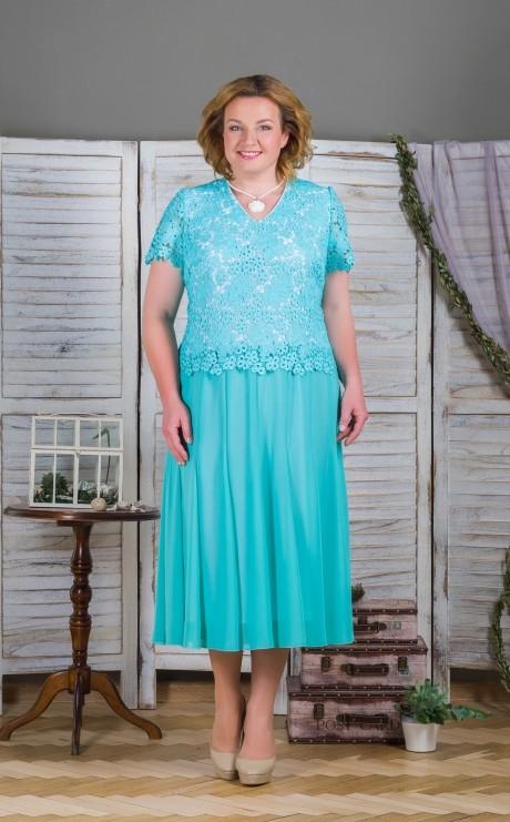 Вечерние платья Aira Style 486 бирюза