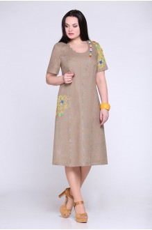 Летние платья Надин-Н 1206 темно-бежевый фото 1