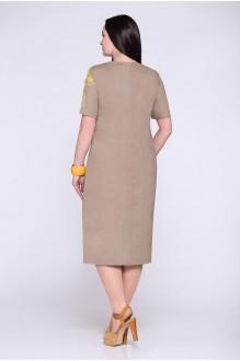 Летние платья Надин-Н 1206 темно-бежевый фото 2