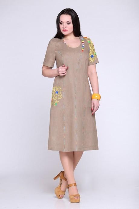 Летние платья Надин-Н 1206 темно-бежевый