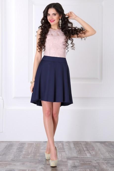 Вечерние платья ЛаКона 958 пудра/синий