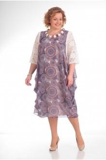 Повседневные платья Прити 435 цветы на розовом фоне фото 1