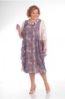 Повседневные платья Прити 435 цветы на розовом фоне фото 2