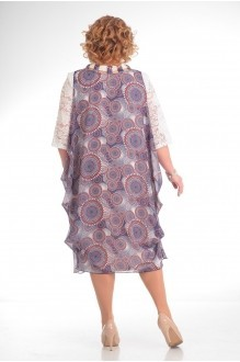 Повседневные платья Прити 435 цветы на розовом фоне фото 3