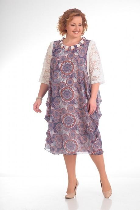 Повседневные платья Прити 435 цветы на розовом фоне