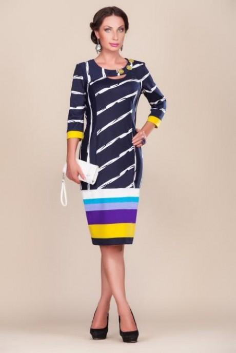 Повседневные платья Gold Style 1569 т.синий/черный