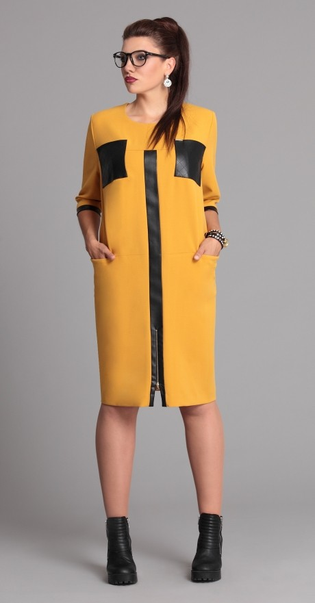 Повседневные платья Галеан-стиль 526 желтый
