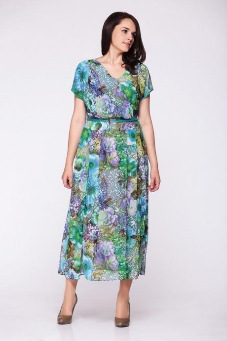 Длинные платья Golden Valley 4247 цветы/сиреневый