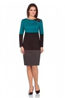 Повседневные платья Bonna Image 13-041 бирюза + черный фото 1