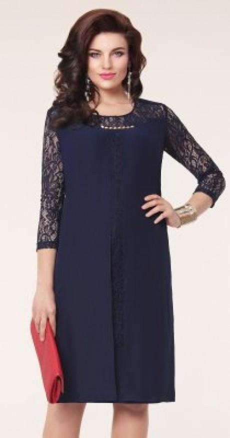 Вечерние платья Vittoria Queen 1073 -2 т.синий