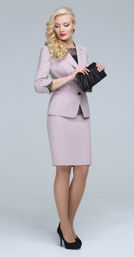Юбочные костюмы /комплекты ЛаКона 921 юб бежево-розовый