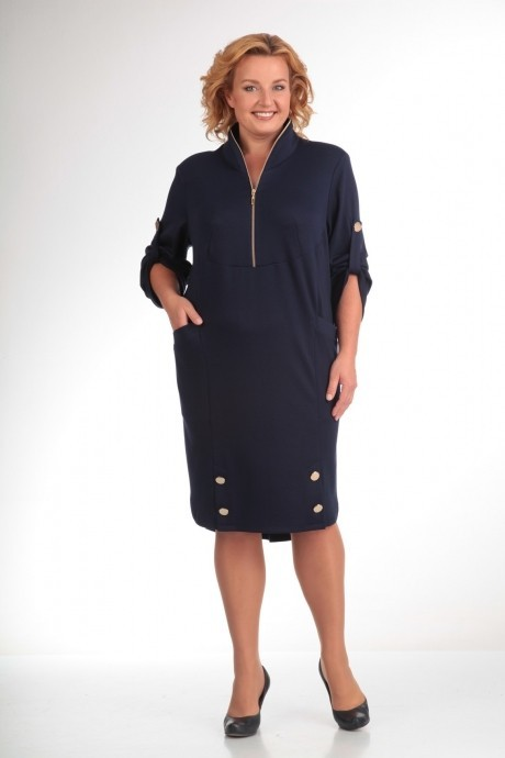 Повседневные платья Прити 473 темно-синий