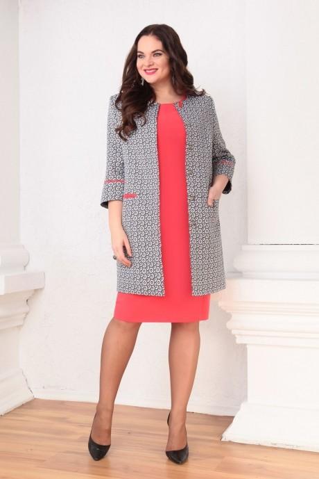 Юбочные костюмы /комплекты Ksenia Stylе 1316 красное платье