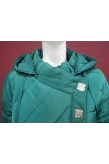 Пальто Магия Моды 964 изумруд/полосы фото 2