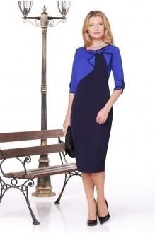 Вечерние платья Нинель Шик 5443 синий фото 1