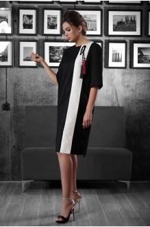 Повседневные платья Люше 1323 черный+белый фото 1