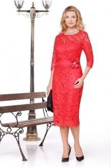 Вечерние платья Нинель Шик 5452 красный фото 1