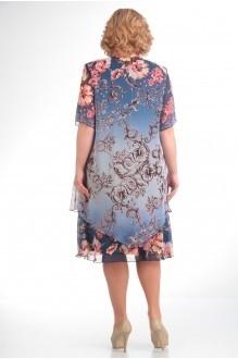 Летние платья Прити 242 синий градиент/вензеля фото 2