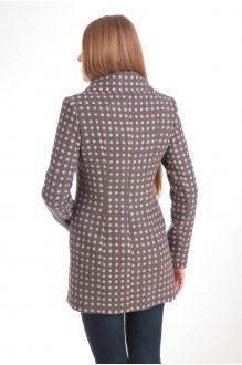 Пальто Diomant 1103 серый/розовый горох фото 3