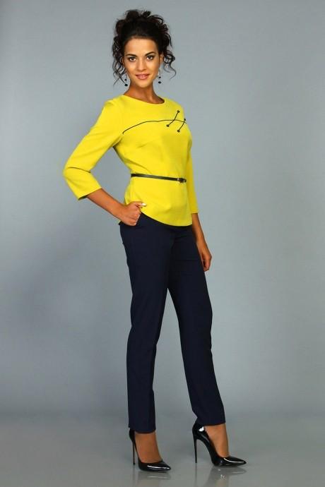 Брючные костюмы /комплекты ALANI COLLECTION 394 горчица/синий