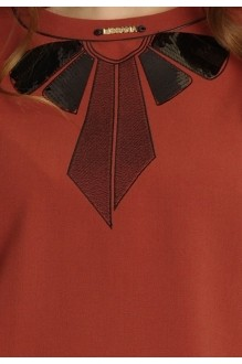Юбочные костюмы /комплекты Lissana 2913 терракот/черный фото 5