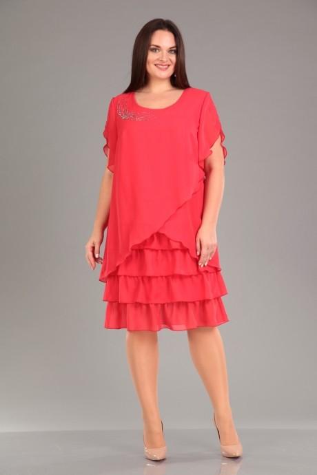 Вечерние платья Лиона-Стиль 466 коралл