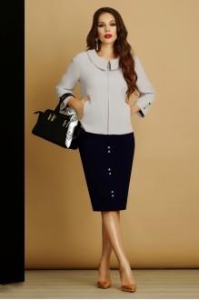 Юбочные костюмы /комплекты Lissana 2885 серый фото 2