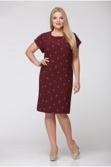 Повседневные платья Надин-Н 1240/4 тёмное бордо фото 3