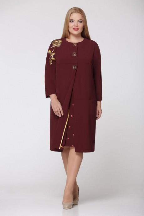 Повседневные платья Надин-Н 1240/4 тёмное бордо