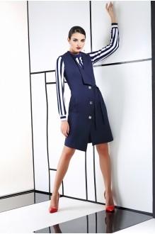 Юбочные костюмы /комплекты ЛаКона 990 синий/полоска фото 1