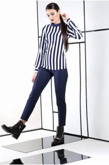 Юбочные костюмы /комплекты ЛаКона 990 синий/полоска фото 3