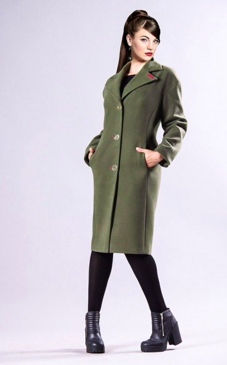 Пальто Runella 1180 хаки