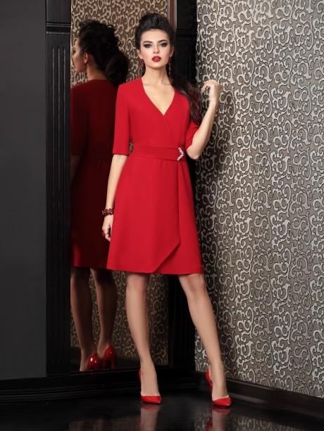 Вечерние платья Твой Имидж 4105 красный