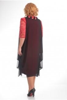 Повседневные платья Прити 435 коралл/черный фото 2