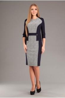 Повседневные платья EOLA 1267 зиг заг + синий фото 1