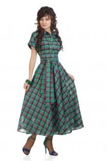 Длинные платья Elpaiz 085 зеленая клетка фото 1