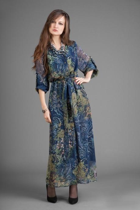 Длинные платья Elpaiz 105 синий