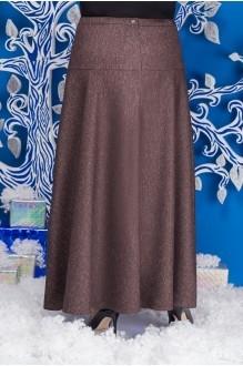 Юбки Нинель Шик 216 коричневый фото 2
