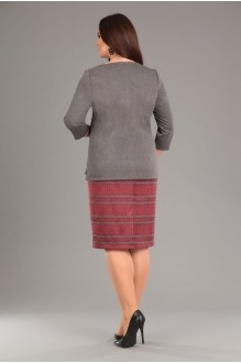 Юбочные костюмы /комплекты EOLA 1276 серый /красный орнамент фото 4