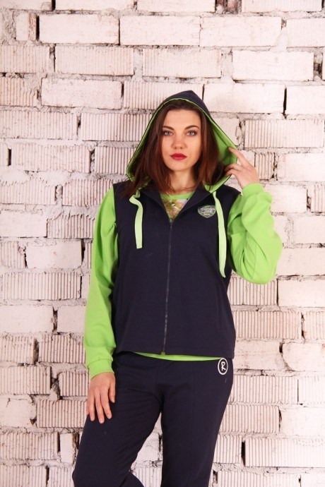 Спортивные костюмы Runella 1233 зеленый/длин. рукав