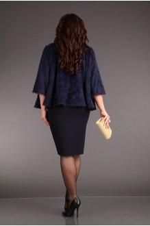 Юбочные костюмы /комплекты Лиона-Стиль 570 синий+синий фото 3