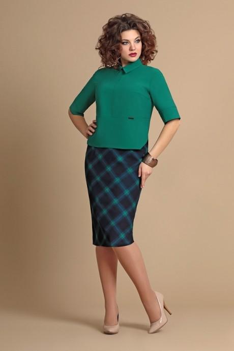 Юбочные костюмы /комплекты Мублиз 064 синий+зеленый