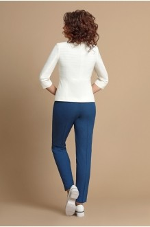 Брючные костюмы /комплекты Мублиз 065 белый+синий фото 3