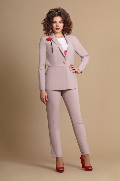 Брючные костюмы /комплекты Мублиз 071 бежевый