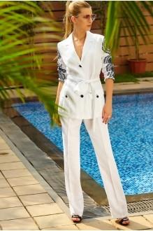 Брючные костюмы /комплекты Vesnaletto 1422 белый с черным фото 1