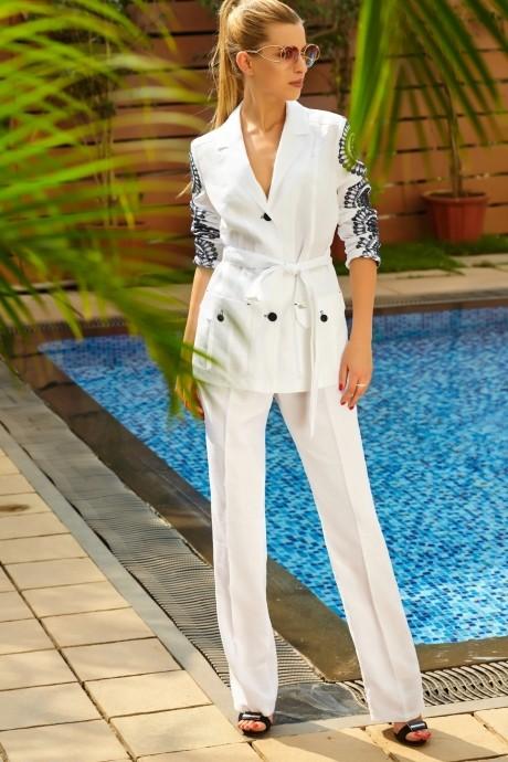 Брючные костюмы /комплекты Vesnaletto 1422 белый с черным